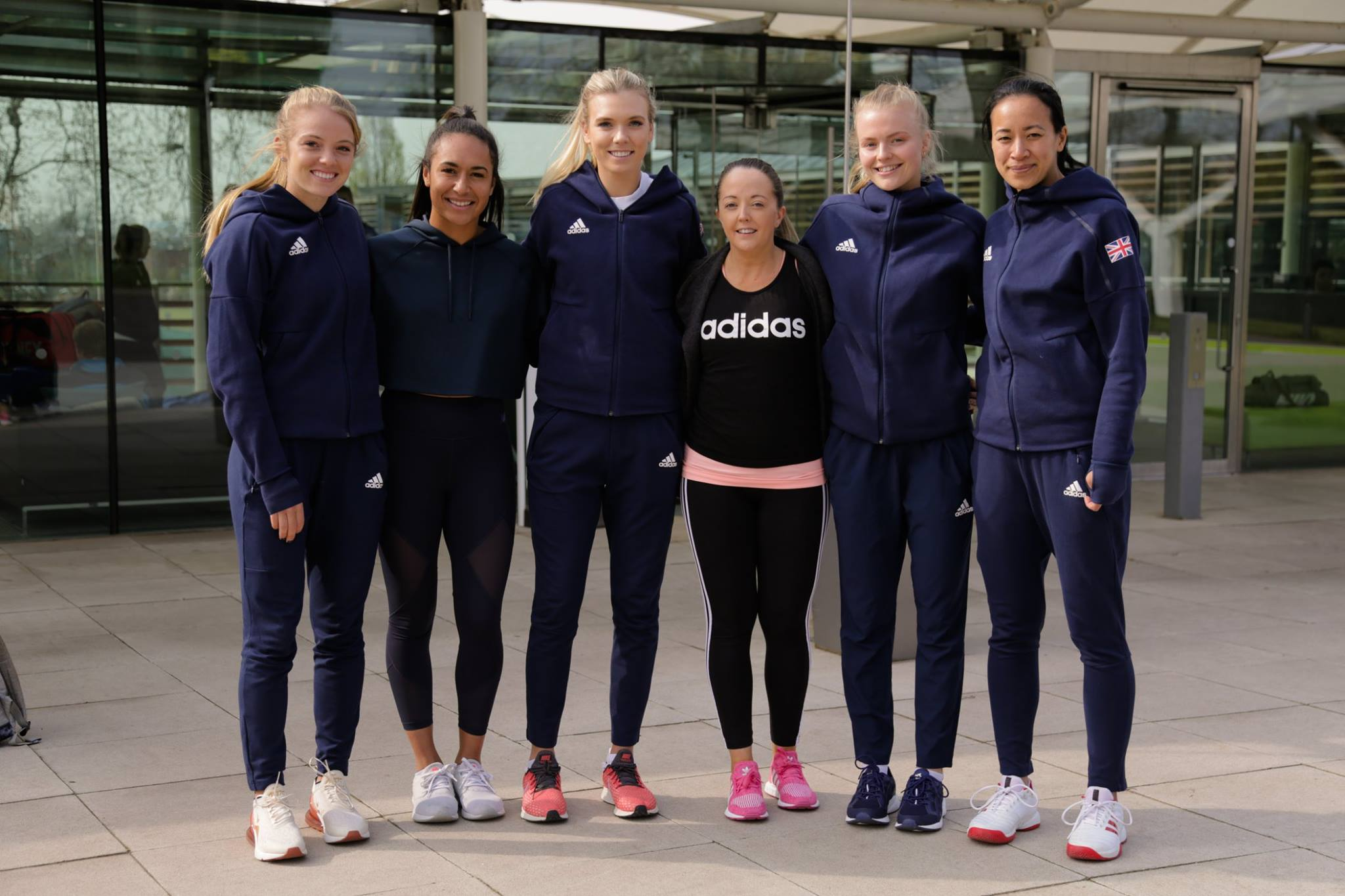 GB Fed Cup team meet Robyn!